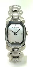 Ladies Escada 4 Diamond Markers Stainless Steel Pearl Dial Watch E2605061