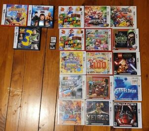 Nintendo DS , 3DS Lot of 18 EMPTY  Game Cases with most  Manuals Mario + 2 games