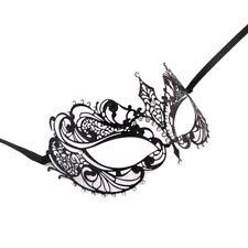 Style Laser Cut Metal Filigree Masquerade Party Mask Diamante K4X3