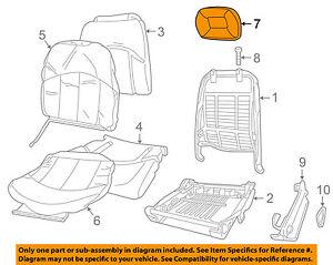 Buick GM OEM 2002 Regal Front Seat-Headrest Head Rest 88895318