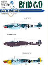 EagleCals Decals 1/72 MESSERSCHMITT Bf-110C Bf-110D Part 3