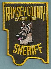 RAMSEY COUNTY SHERIFF MINNESOTA POLICE K-9 UNIT PATCH