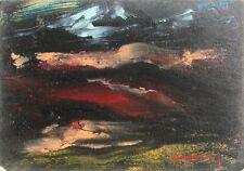 GIANDANTE X (Dante Pescò Milano 1899-1984) PAESAGGIO encausto cm 35x50 anno 1965
