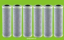 "Six Big Blue 20"" x 4.5"" CTO Carbon Block Filter (1 micron)"