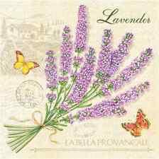 Floral 20 Paper Napkins BEAUTIFUL PROVENCE - Spring DECOUPAGE Lavender Flower /D