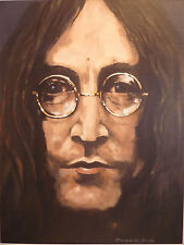 """Stordimento DON Cameron ORIGINALE """"John"""" The Beatles John Lennon dipinto"""