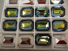 4 swarovski double cut octagon brooch stones,20x15mm sahara #4610