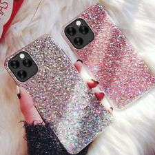For iPhone SE 2020 11 Pro XS Max Glitter Crystal Silicone Soft Phone Case Cover