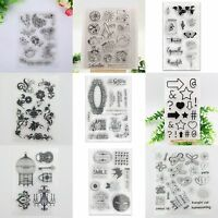 DIY Flower Mix Transparent Silicone Clear Rubber Stamp Sheet Cling Scrapbooking
