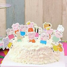 24pcs Peppa Pig Cupcake Toppers Fruit Salad Jelly Toppers Party Food Decoration