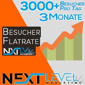 Flatrate 📈 Täglich 3000+ GOOGLE Besucher ✔︎ Organic DE Traffic ★ SEO ★ 3 Monate