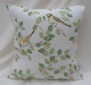 "Laura Ashley Designer Cushion Cover ""AVIARY GARDEN"" Apple Fabric Various Sizes"