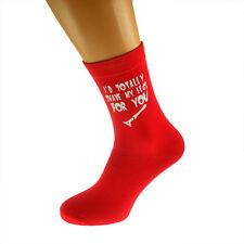 Vorrei totalmente depilarmi le gambe... Divertente San Valentino Calze da Uomo Rosso Taglia UK 5-12 - x6n326