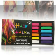 12 Colors Hair Chalk Non-Toxic Temporary Hair Dye Colour Soft Pastels Salon Kit