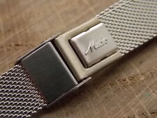 "16mm 5/8"" Mido Mens Vintage Watch Band Stainless Steel Sliding Clasp New Old Stk"