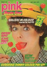 Pink & Music Star Magazine 24 May 1975 No 113   Bay City Rollers    Donny Osmond