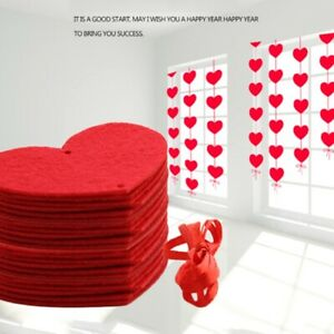 Hanging Red Heart String Valentines Day Decorations Engagement Wedding Party New