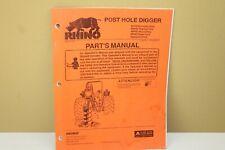 Rhino Post Hole Digger Ephd Rphd Hphd Sphd Hydraulic Drive Parts Manual Uc21