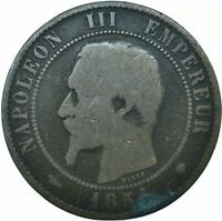 COIN / FRANCE / 10 CENTIMES 1854 NAPOLEON III. #WT19930