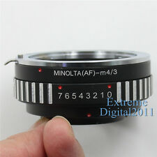 AF-M4/3 for Sony Minolta MA Lens to Panasonic Olympus Micro 4/3 Camera Adapter