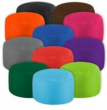 Polyester Footstool Home Sofa Round Stool Bean Bags Sofa Lounger Cover Soft Wash