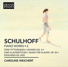 Caroline Weichert - Schulhoff: Piano Works Vol 2 [Caroline Weichert] [CD]