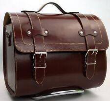 LARGE LEATHER Top Box Case Roll Bag VESPA PRIMAVERA PX LXV GTS GTV6 Vintage Marrone
