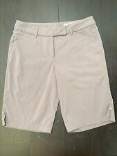 Callaway Golf Women's Flat Front Shorts Sz 8 Gray Polyester