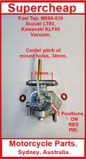 Fuel Tap, M088-039, Suzuki LT80, Kawasaki KLF80, Vacuum operated, all models.