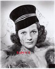RITA HAYWORTH Older Restrike RARE Photo Elegant Veiled Beauty 1940s Portrait
