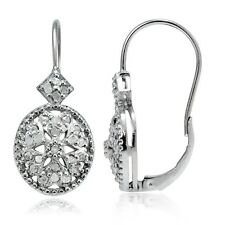 1/2ct Diamond Filigree Oval Leverback Earrings