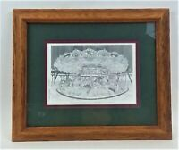 "NEVIN ROBINSON FRAMED & MATTED KENNYWOOD CAROUSEL PRINT 9""X11"" SIGNED BY ARTIST"
