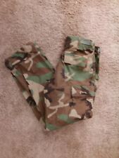 Woodland Camo Combat Pants Small Regular Field - BDU 27-31