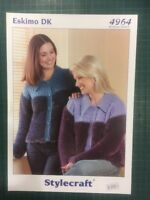 "Stylecraft 4964 Eskimo Dk Knitting Pattern Ladies 32-42"" Cardigan"