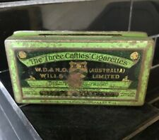 THE THREE CASTLES W.D. & H.O. WILLS Tobacco Vintage Australian Tin RARE
