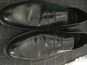 mens christian dior shoes formal black slip ons used condition some wear to heal