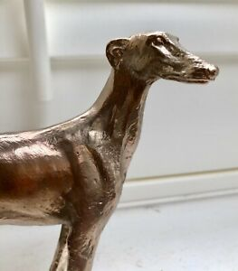 SOLID BRONZE SCULPTURE OF A GREYHOUND No25 SKINNY DOG CAST AT OUR UK FOUNDRY
