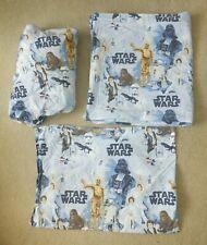 Pottery Barn Kids Star Wars FULL Sheet Set - 2 Pillow Case, Flat & Fitted Sheet