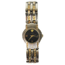 Vintage Gianni Versace Signature Stainless Steel Watch Gold Plated Medusa