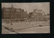 Sussex BRIGHTON Metropole & Grand Hotel used 1924 RP PPC