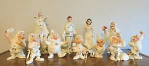 SNOW WHITE & 7 DWARFS -Complete Lenox Disney Showcase Collection of 11 Figurines