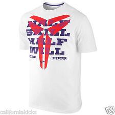 NIKE Kobe Half Skill Half Will T-Shirt sz 2XL XX-Large White Purple Red 8 9 NEW