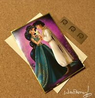 2013 Disney Designer Fairytale Couples Note Card JASMINE & ALADDIN