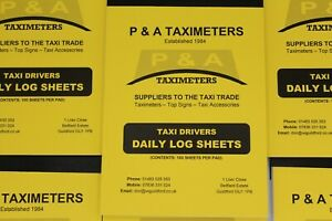 20 Daily log sheets Taxi Driver Records Taxi Shop Taxi Meters   20 LOG  BOOKS