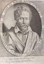 Andreas Laurentius (1558−1609) DU LAURENS Médecine Henri IV burin XVIIe