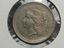 UNC 1865 3¢ Cent Nickel. #20