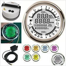 85mm Round 6-in-1 Car LED GPS Speedometer Water Temp Fuel Level Oil Meter Gauge