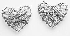 50 Silver Heart Rattan LED light string 5m Long Wedding Engagement BATTERY PWR