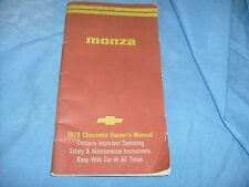 1979 Chevrolet Monza Owners Manual Owner's Guide Book nice / f4