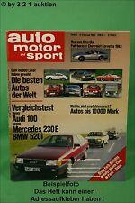 AMS Auto Motor Sport 3/83 Chevy Corvette Porsche 911 V8 Opel Senator 3,0